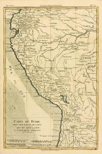 Peru, from 'Atlas De Toutes Les Parties Connues Du Globe Terrestre' by Guillaume Raynal (1713-96)… by Charles Marie Rigobert Bonne