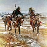 Lewis and Clark on the Lower Columbia-Charles Marion Russell-Premium Giclee Print