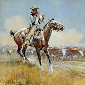 Beef for the Fighters by Charles Marion Russell
