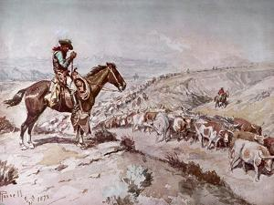 Cattle Drive, 1898 by Charles Marion Russell