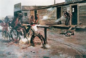 Death of a Gambler by Charles Marion Russell