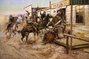 In Without Knocking by Charles Marion Russell