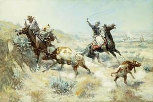 Range Mother, 1908 by Charles Marion Russell