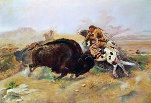 Russell: Buffalo Hunt by Charles Marion Russell