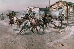 Smoke of a .45, 1908 by Charles Marion Russell