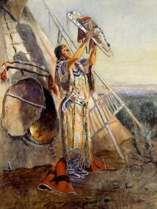 Sun Worship in Montana by Charles Marion Russell