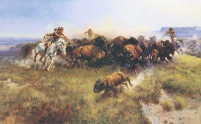 The Buffalo Hunt by Charles Marion Russell