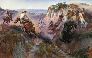 The Wild Horse Hunters by Charles Marion Russell