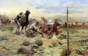 When Horse Flesh Comes High by Charles Marion Russell