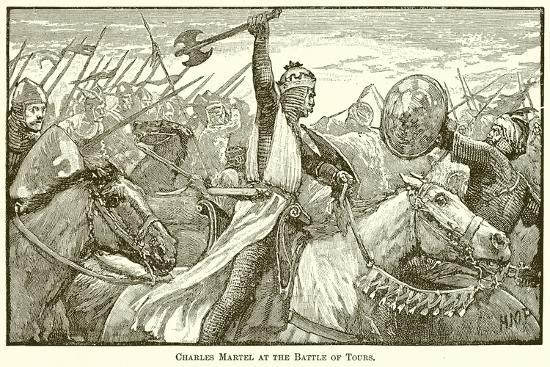 Charles Martel at the Battle of Tours--Giclee Print