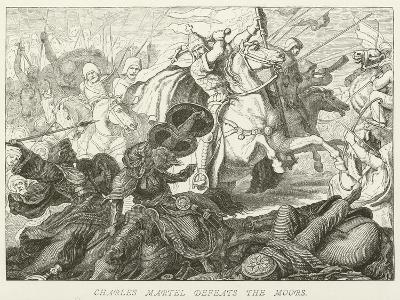 Charles Martel Defeats the Moors--Giclee Print