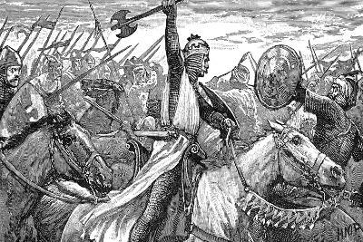 Charles Martel, King of the Franks, at the Battle of Poitiers, 732--Giclee Print