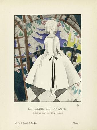 Le Jardin de l'infante, robe du soir de Paul Poiret