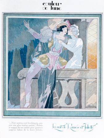 Romeo and Juliet in the Balcony Scene, Illustration from 'Femina' Magazine, December 1929