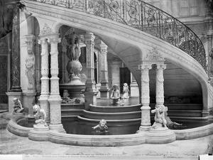 Fountain Under the Stairs of the Hotel de Ville Before the Fire of 1871 by Charles Marville