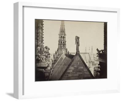 Notre-Dame de Paris, les combles pris de la Galerie des Tours