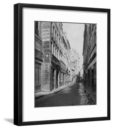 Paris, 1865 - Rue des Bourdonnais de la rue de Rivoli