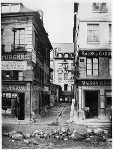 Paris 4 Rue De Breteuil, View Taken from Rue Reaumur Towards Rue Vaucanson, 1858-78 by Charles Marville