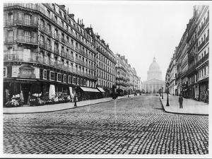 Paris, Rue Soufflot, the Pantheon, 1858-78 by Charles Marville