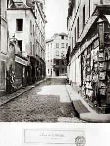 Rue de L'Arbalete, from the Rue Mouffetard, Paris, 1858-78 by Charles Marville