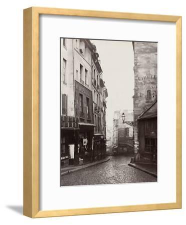 Rue De La Montagne-Sainte-Geneviève Near the Intersection of Rue Laplace, 1865-69