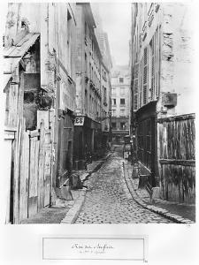 Rue Des Anglais, from Boulevard Saint-Germain, Paris, 1858-78 by Charles Marville