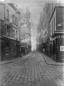 Rue des Canettes (de la rue du Four), VIeme arrondissement de Paris by Charles Marville