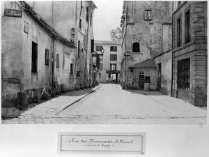 Rue Des Marmousets Saint-Marcel, from Rue Saint-Hippolyte, Paris, 1858-78 by Charles Marville