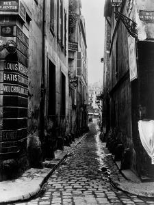 Rue Du Croissant, from the Rue Du Sentier, Paris, 1858-78 by Charles Marville