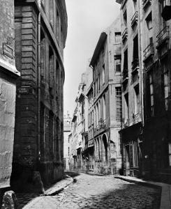 Rue Serpente, Paris, 1858-78 by Charles Marville