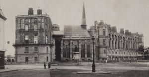 Trois vues du château de Saint-Germain-en-Laye et de l'église by Charles Marville