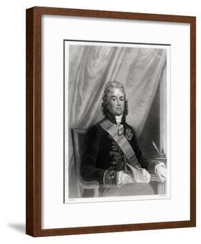 Charles Maurice De Talleyrand-Perigord, French Diplomat, 19th Century-S Freeman-Framed Giclee Print