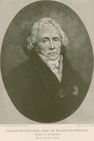 Charles Maurice De Talleyrand-Perigord-Ary Scheffer-Giclee Print