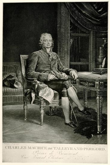 Charles Maurice Herzog Von Talleyrand-Périgord, 1884-90--Giclee Print