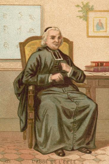 Charles-Michel De L'Epee, French Clergyman and Philanthropic Educator--Giclee Print