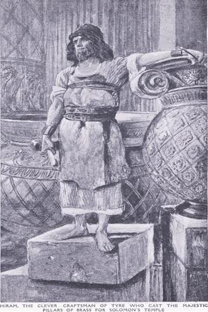 Hiram, the Clever Craftsman of Tyre Who Cast the Majestic Pillars of Brass for Soloman's Temple