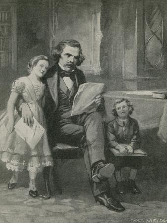 Nathaniel Hawthorne Reading to His Children
