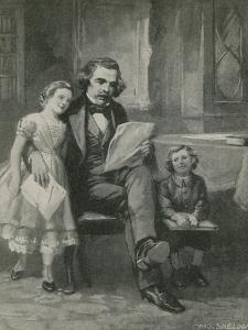 Nathaniel Hawthorne Reading to His Children by Charles Mills Sheldon