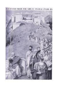 Socrates Sees the Great People Pass By by Charles Mills Sheldon