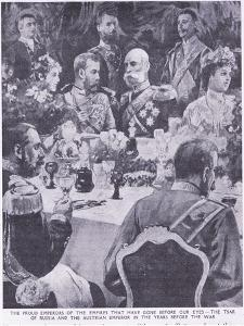 Tzar of Russia and the Austrian Emperor at a Banquet before the War by Charles Mills Sheldon