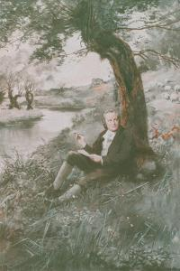 William Blake Sits in the Sun by Charles Mills Sheldon