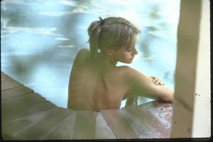 Peggy Lipton in Her Pool by Charles Moore
