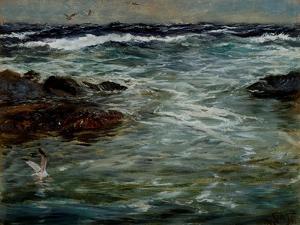 Sea Study at Portscatho, Cornwall, 1901 by Charles Napier Hemy