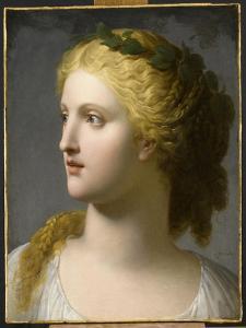 Tête de femme couronnée de laurier by Charles Paul Landon