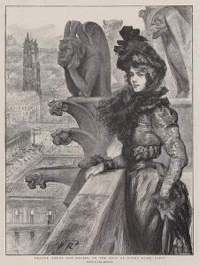 Beauty Among the Devils, on the Roof of Notre Dame, Paris by Charles Paul Renouard