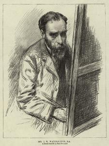 Mr J W Waterhouse by Charles Paul Renouard