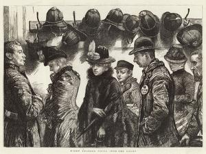 Night Charges Going into the Court by Charles Paul Renouard