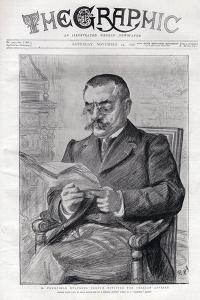 Portrait of Theophile Delcasse (1852-1923), French politician and minister for foreign affairs by Charles Paul Renouard