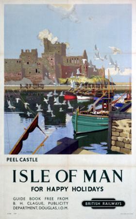 Peel Castle, Isle of Man, BR, c.1949 by Charles Pears