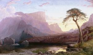 A View of Hornelen Fjord, Norway by Charles Pettitt